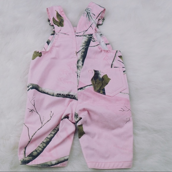 0cfca3a7b9063 Bass Pro Shops One Pieces | Real Tree Camo Pink Bib Baby Girl ...